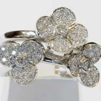 Bague orblanc composition diamants or 18 cts