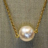 Collier perle or 18 cts