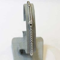 Bracelet ligne diamants or blanc 18 cts