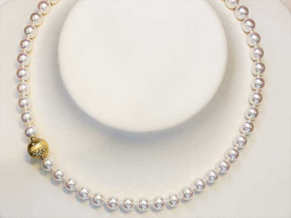 Collier perles fermoir or 18 cts